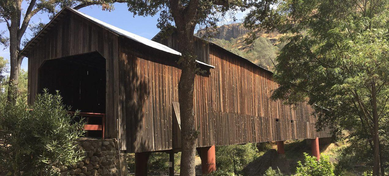 Honey Run Covered Bridge Rebuild after Paradise Fire