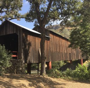 Honey Run Covered Bridge Rebuild after Paradise Fire